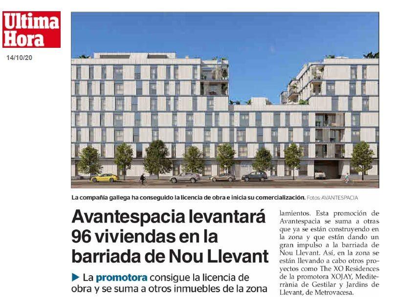 Avantespacia obtiene licencia para 96 pisos en Nou Llevant
